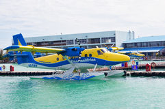 Seaplane ready to take off Stock Photos