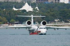 Seaplane during the rescue training Stock Photos