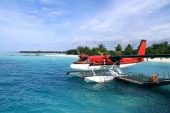 Seaplane rosso Fotografie Stock