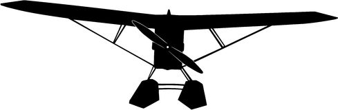 Seaplane silhouette Royalty Free Stock Images
