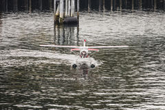 Seaplane som Taxiing från framdel Arkivfoto