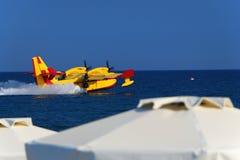 Seaplane Splashdown (νερό που προσγειώνεται) Στοκ Φωτογραφίες