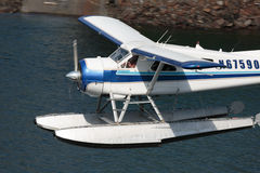 Seaplane Takeoff Closeup. Ketchikan, AK, USA - May 24, 2016: Closeup of seaplane taking off for a scenic tour royalty free stock photography