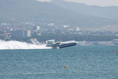 Seaplane takeoff from water Stock Photography