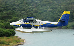 Seaplane taking off Stock Image