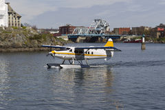 Seaplane taking off in Vancouver Islands Royalty Free Stock Photos
