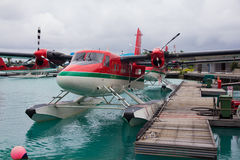 Seaplane taxi Stock Images
