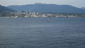 A seaplane is touching down to the sea.3. A seaplane is touching down to the sea stock video