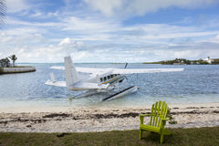 Seaplane at tropical resort Royalty Free Stock Photography
