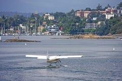 Seaplane in Victoria harbor Stock Images