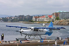Seaplane in Victoria Harbour Royalty Free Stock Photo
