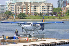 Seaplane in Victoria Harbour Stock Photos