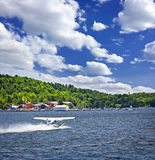 Seaplane on water Stock Images