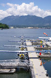 Seaplanes in harbour Vancouver , Canada Royalty Free Stock Photos