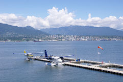 Seaplanes in harbour Vancouver, Canada Stock Photo