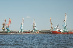 Seaport in Baku. Azerbaijan stock photography