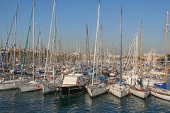 Seaport of Barcelona Royalty Free Stock Images
