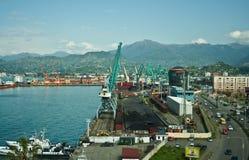 Seaport in Batumi, Georgia. Royalty Free Stock Image