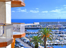 Seaport in Blanes Spain Royalty Free Stock Photography