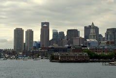 Seaport of boston harbor Stock Photo