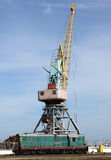 Seaport cargo crane Royalty Free Stock Image