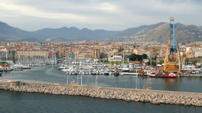 Seaport and city. Palermo, Italy stock footage