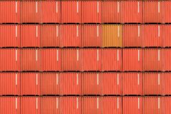 Seaport container terminal in Hongkong Royalty Free Stock Images