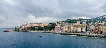 Seaport in Corsica. Port of Bastia in Corsica Stock Photos