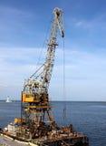 Seaport crane Royalty Free Stock Image