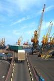 Seaport cranes Stock Photography