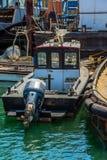Seaport guard boat. Small guard boat at a sea port Stock Photos