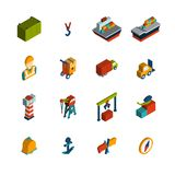 Seaport Icon Isometric Stock Photo