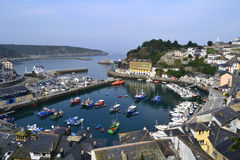 Seaport of Luarca, Asturias, Spain. Panoramic wiew of seaport of Luarca in Asturias, Spain Royalty Free Stock Photos