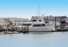 Seaport Marine. Various boats docked at Seaport Marine Mystic CT USA stock photography