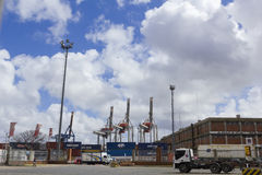 Seaport of Montevideo, Uruguay. Royalty Free Stock Images