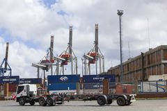 Seaport of Montevideo, Uruguay. Stock Photo