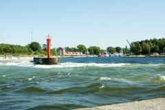 Seaport in Mrzeżyno in Poland Royalty Free Stock Photos