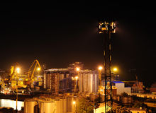 Seaport at the night Royalty Free Stock Photos