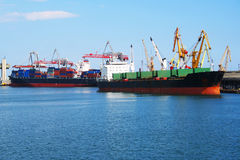 Seaport in Odessa stock photo
