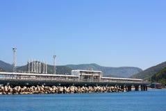Seaport oil terminal Stock Photo