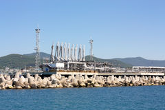 Seaport oil terminal Royalty Free Stock Photos
