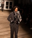 Joseph Abboud Mens Fall 2019 Fashion show as part of New York Fashion Week royalty free stock image