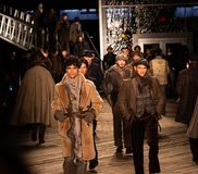 Joseph Abboud Mens Fall 2019 Fashion show as part of New York Fashion Week stock images