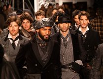 Joseph Abboud Mens Fall 2019 Fashion show as part of New York Fashion Week royalty free stock images
