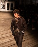 Joseph Abboud Mens Fall 2019 Fashion show as part of New York Fashion Week royalty free stock photos