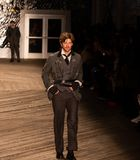 Joseph Abboud Mens Fall 2019 Fashion show as part of New York Fashion Week royalty free stock photography