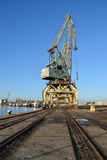 Seaport and port cranes. Burgas, Bulgaria Royalty Free Stock Photography