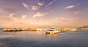 Seaport scenery of China stock photo