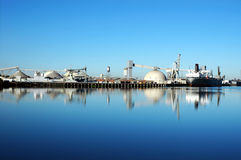 Seaport Ship Reflection Royalty Free Stock Photos