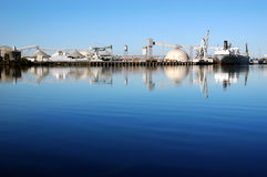 Seaport Ship Reflection Stock Images
